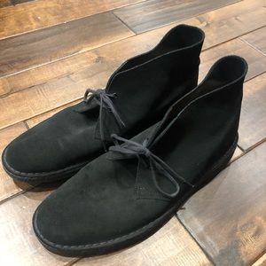 Men's size 12 black suede dress boots